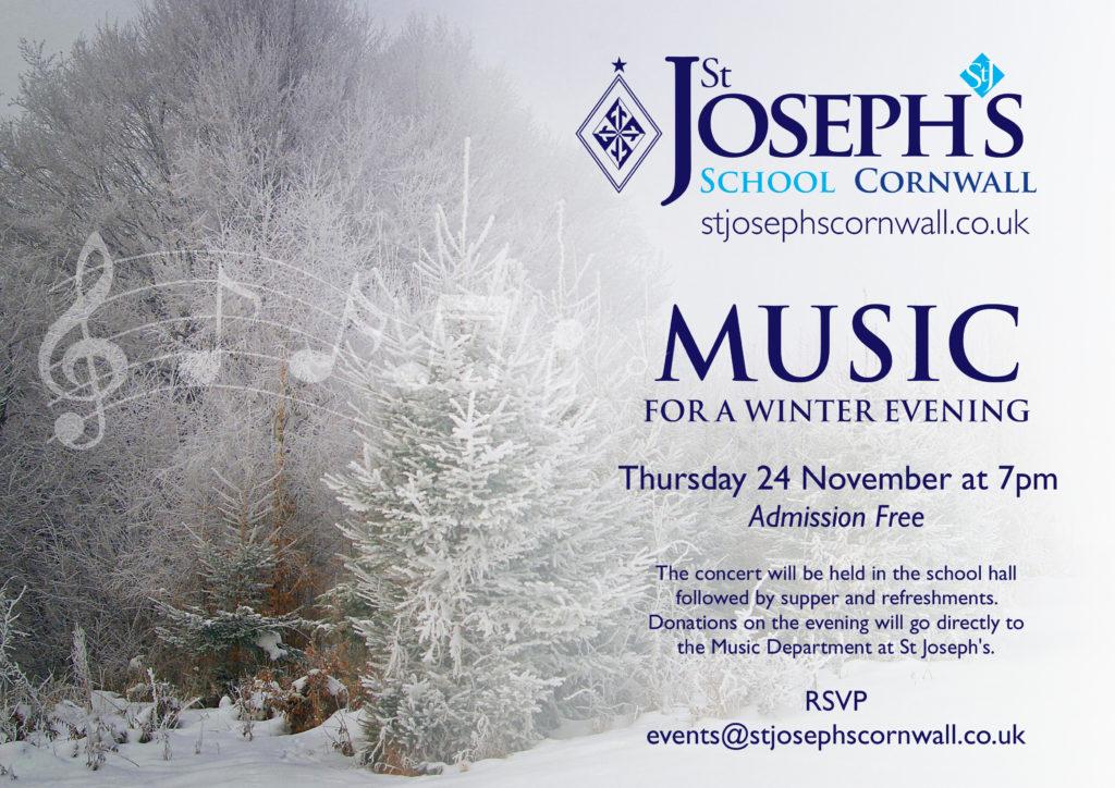 St Joseph's A5 Music for a winter evening 2016.cdr