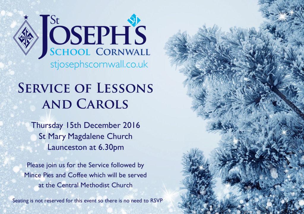 St Joseph's A5 Service of lessons & carols 2016.cdr
